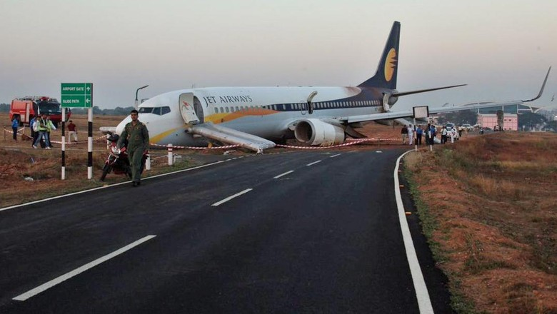 Jet Airways Tergelincir di India