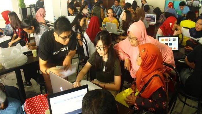 Para pelaku UKM mengikuti program Tatarupa Pahlawan Ekonomi (Foto: Ist)