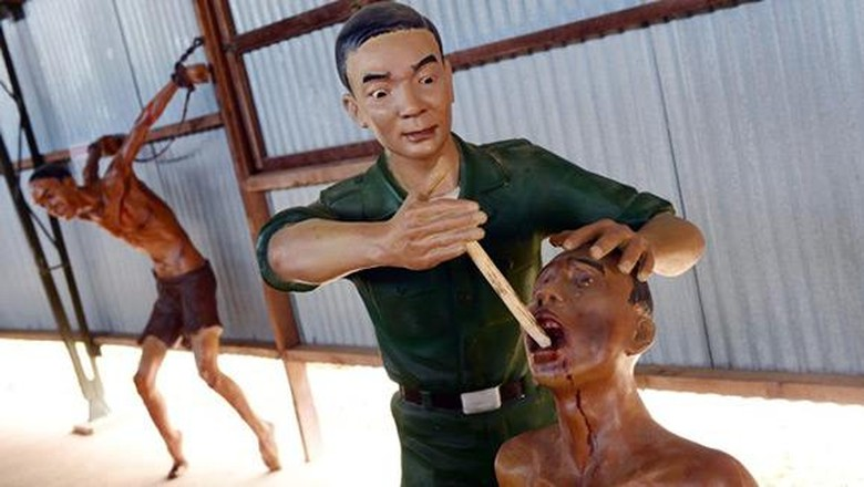 Ilustrasi penyiksaan di Penjara Phu Quoc, Vietnam (phuquocprison.org)