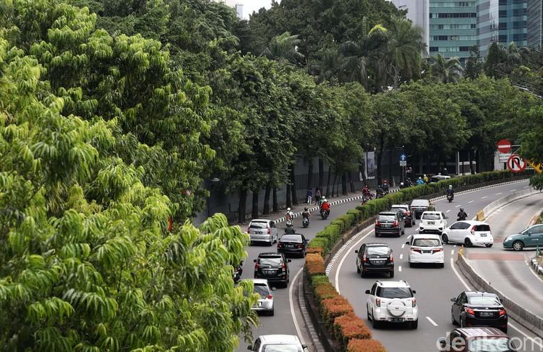 Kendaraan melintasi ruas jalan H R Rasuna Said, Jakarta, Rabu (28/12/2016). Dinas Perhubungan DKI Jakarta mengevaluasi pemberlakuan sistem ganjil-genap. Dari hasil evaluasi, Dishub DKI berencana sistem ganjil-genap akan diperluas hingga Jl HR Rasuna Said, Kuningan, Jaksel.