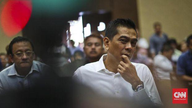 Terpidana kasus suap Raperda Reklamasi dan pencucian uang, M Sanusi, di Pengadilan Tipikor, Jakarta, 2016.