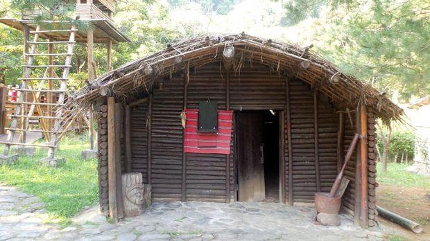 Penampakan replika rumah Suku Atayal (Wahyu/detikTravel)
