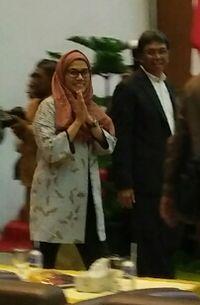 Sri Mulyani Tampil Berjilbab di Universitas Syiah Kuala