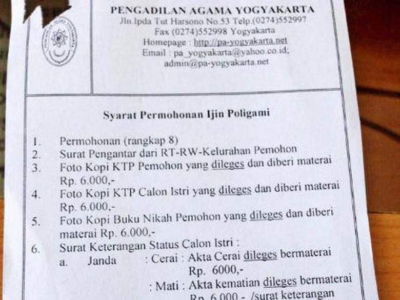 12 Syarat Poligami Di Pengadilan Agama Yogya Beredar Di Medsos