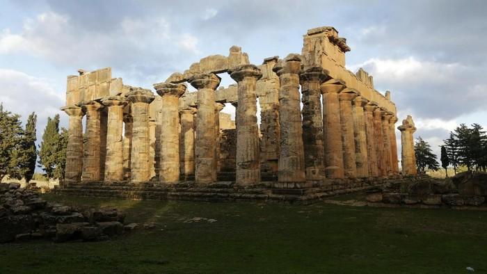 Situs Kirene atau reruntuhan Kota Yunani kuno di Libya menjadi salah satu situs arkeologis warisan dunia