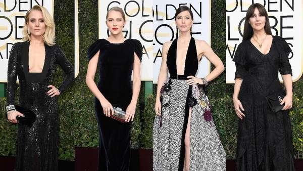 Sexy in Black!Para Selebriti Cantik di Golden Globe 2017