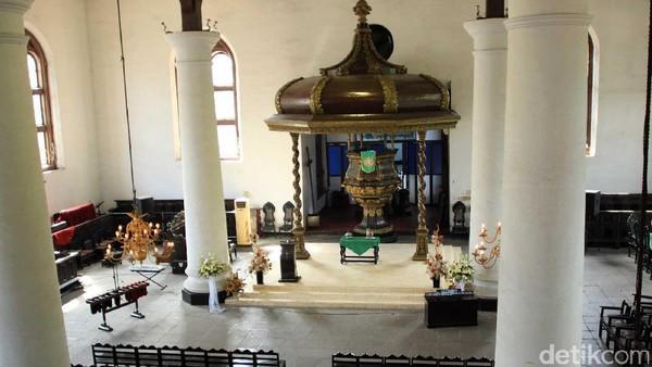 Sejak berdiri dahulu sampai sekarang, Gereja GPIB Sion disebut masih sangat otentik. Fungsi awalnya sebagai rumah ibadah pun masih dilangsungkan hingga saat ini (Johanes Randy/detikcom)