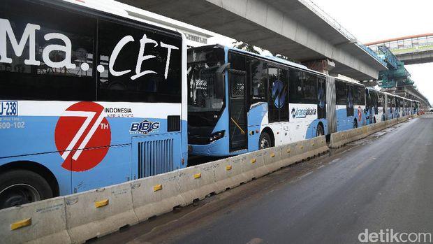 Persiapan Operasi, Pemprov DKI Latih Sopir Busway di Jalur Melayang