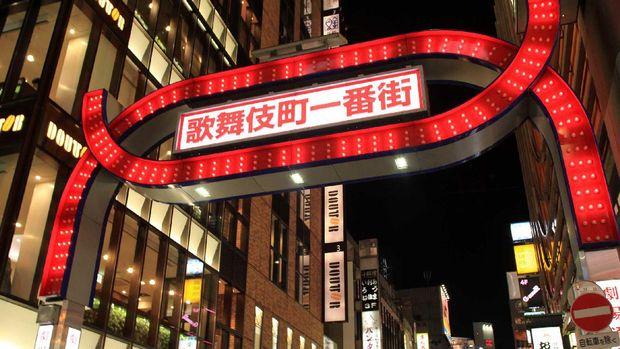 Kawasan Red Light District Kabukicho di Kota Tokyo, Jepang