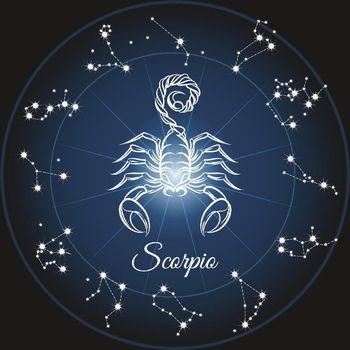 Ilustrasi zodiak Scorpio.