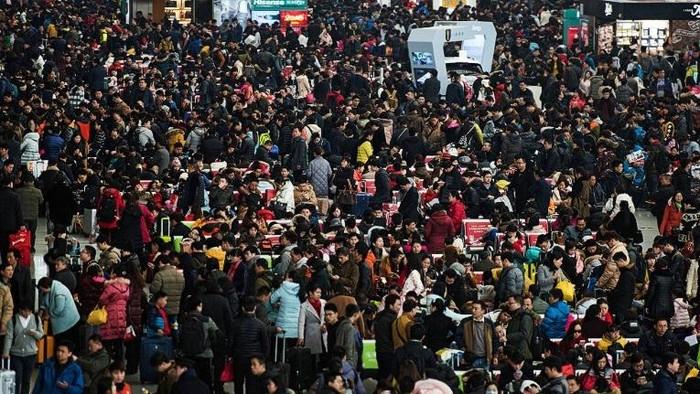 Adat Chunyun, yakni mudik massal penduduk China menjelang Imlek