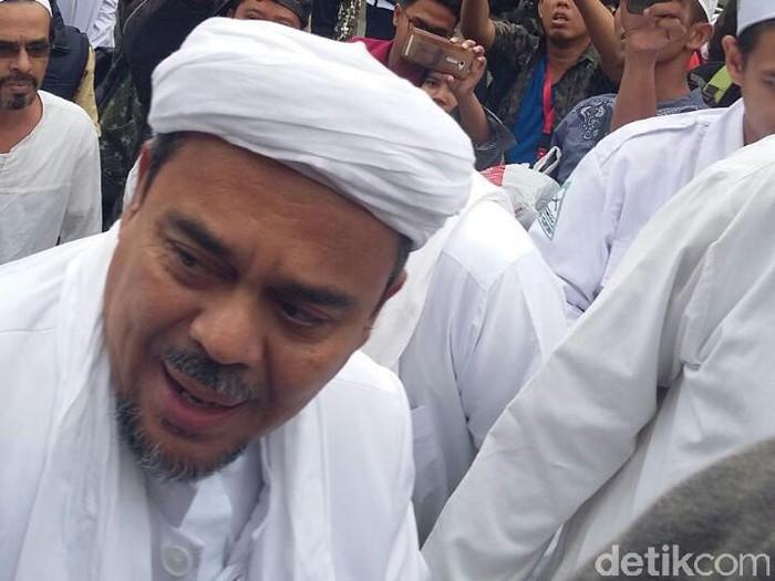 Imam Besar FPI Habib Rizieq Syihab. (Foto: Kanavino Ahmad Rizqo/detikcom)