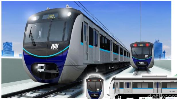 Penampakan Kepala Kereta MRT 'Jangkrik' yang Disoal Sumarsono