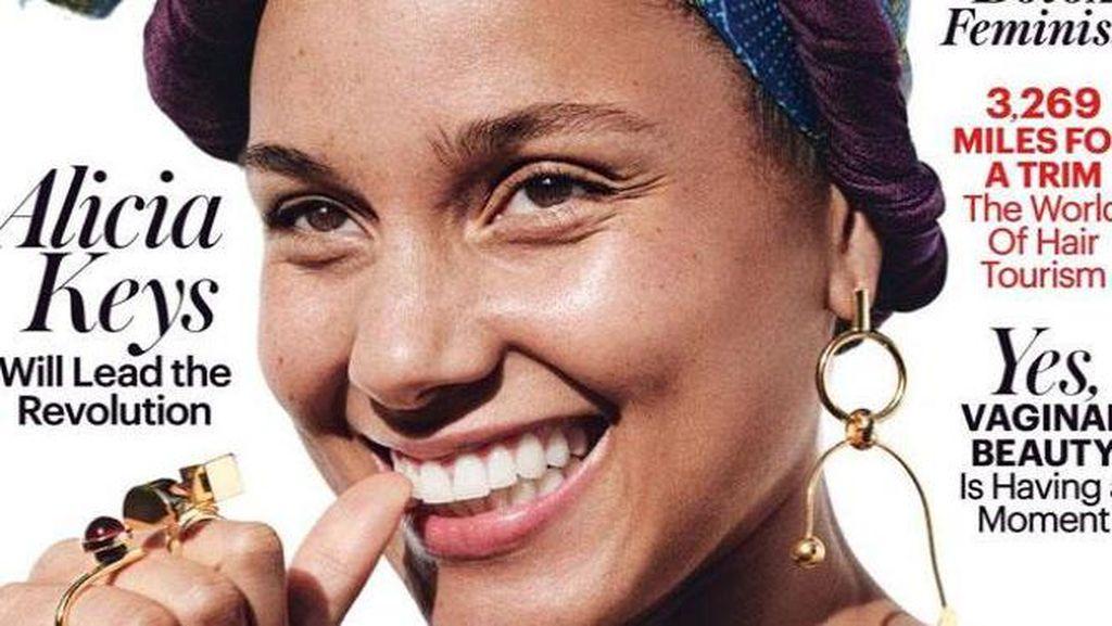 Alicia Keys Berwajah Polos di Majalah: Aku Bukan Budak Makeup