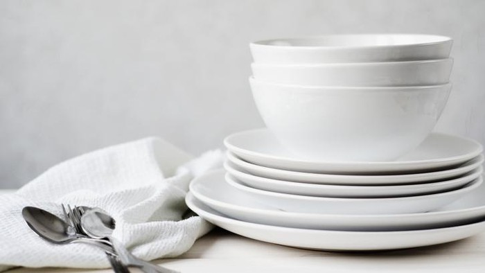 atur dapur dan alat makan untuk diet