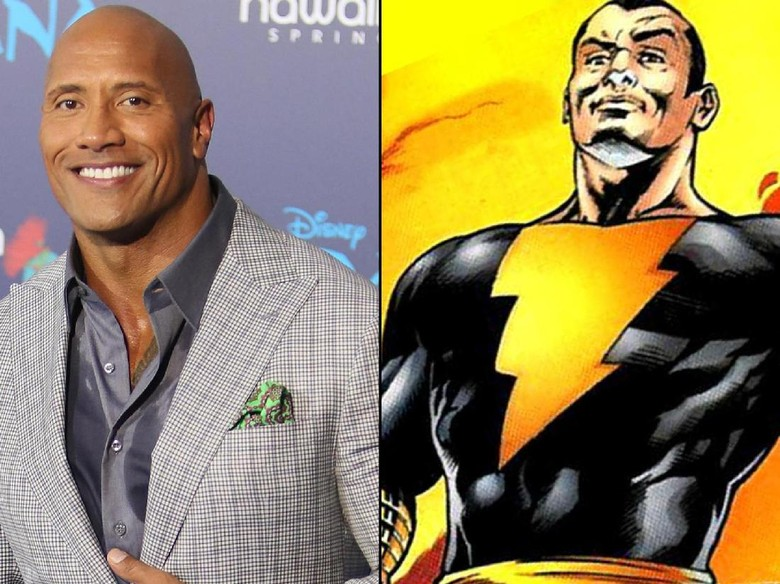 Dwayne Johnson jadi Black Adam. Foto: David Livingston/Getty Images, DC Comics