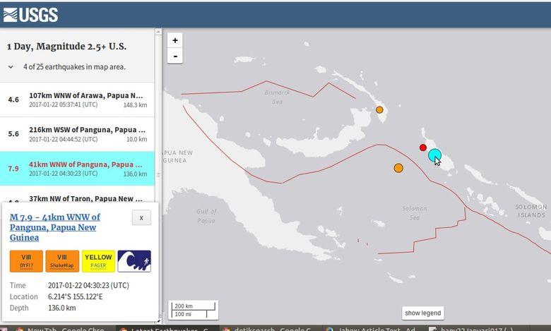 Gempa 7,9 SR di Papua Nugini Tak Berpotensi Tsunami di ...