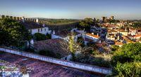 Pemandangan Kota Obidos, Portugal