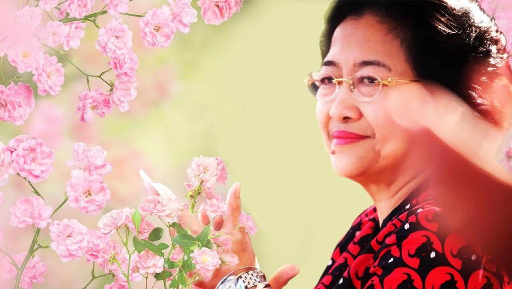 Megawati, Kembang dan Politik Bunga
