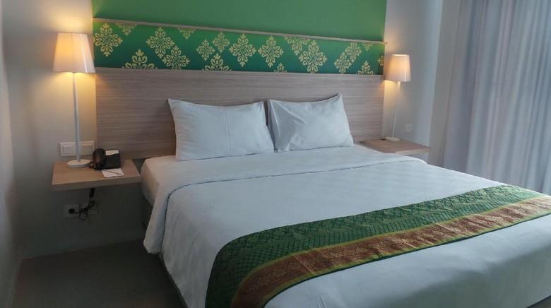Kamar Pesonna Hotel Pekanbaru yang nyaman (Wahyu/detikTravel)