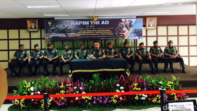 TNI AD Gelar Rapim, Bahas Pangkalan hingga Penambahan Personel