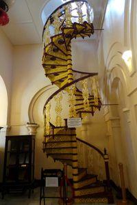 Tangga untuk menuju lantai 2 istana (Wahyu/detikTravel)