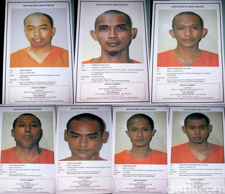 Ini Foto 7 Tahanan Narkoba yang Kabur, Lapor Polisi Bila Melihat
