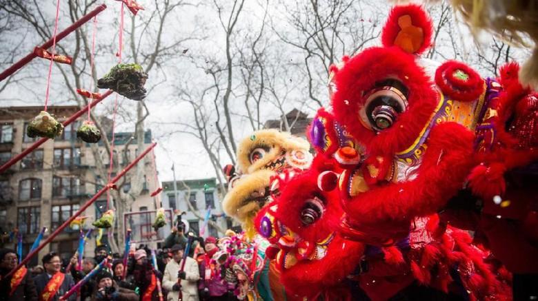 Foto: Tahun Baru Imlek di New York (Andrew Burton/AFP)