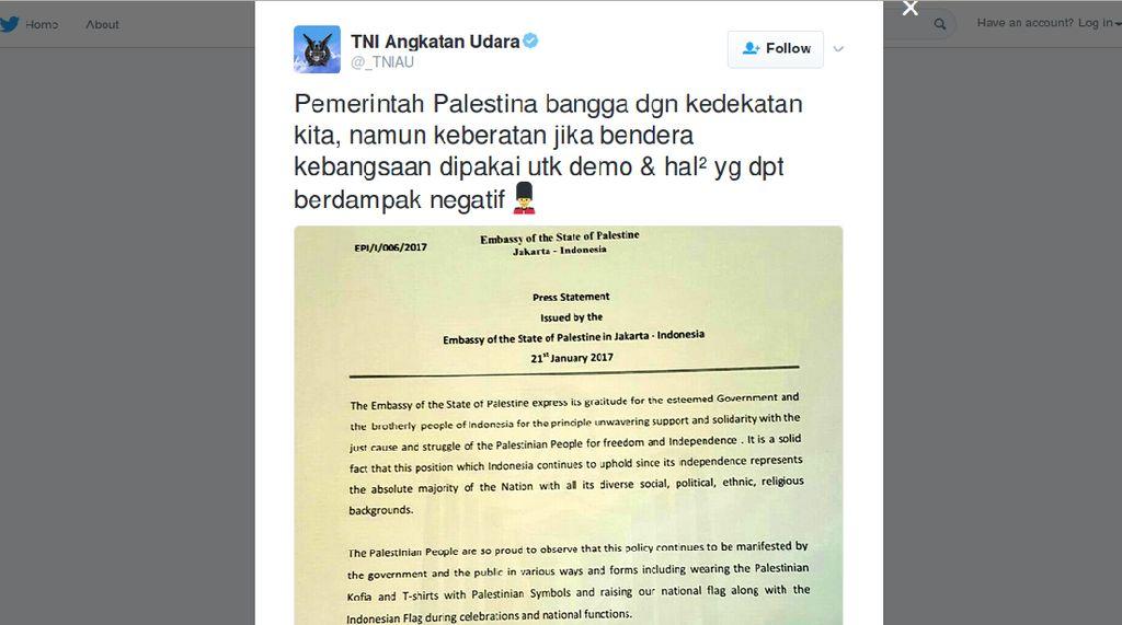Mimin Twitter TNI AU Tanggapi Netizen Nyinyir