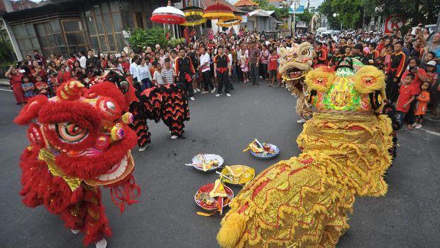 Salah satu budaya China yang dilarang tampil di depan umum di era Orba, seni Barongsai.