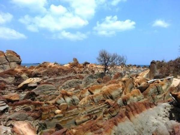 Di Teluk Ciletuh, traveler dapat melihat sisa-sisa bebatuan sebagai buktinya. Batu-batu itu berasal dari dasar samudera (Diah Andrini Dewi/dTraveler)