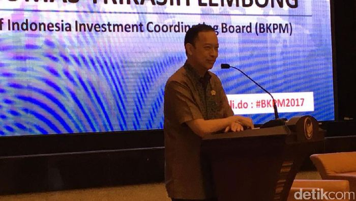 Kepala BKPM Thomas Lembong/Foto: Muhammad Idris/detikFinance