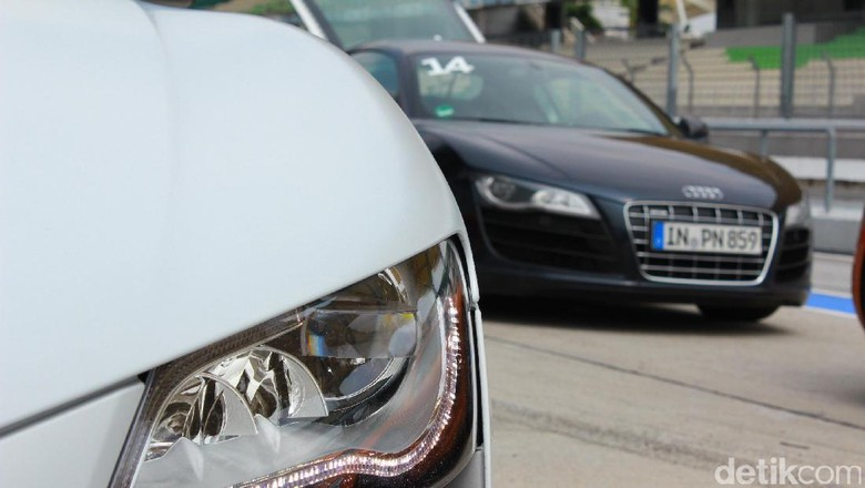 Lampu DRL di Audi R8 (Foto: detikcom)
