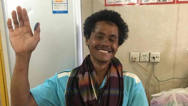 Supriyanto, salah satu nelayan Lamongan yang selamat