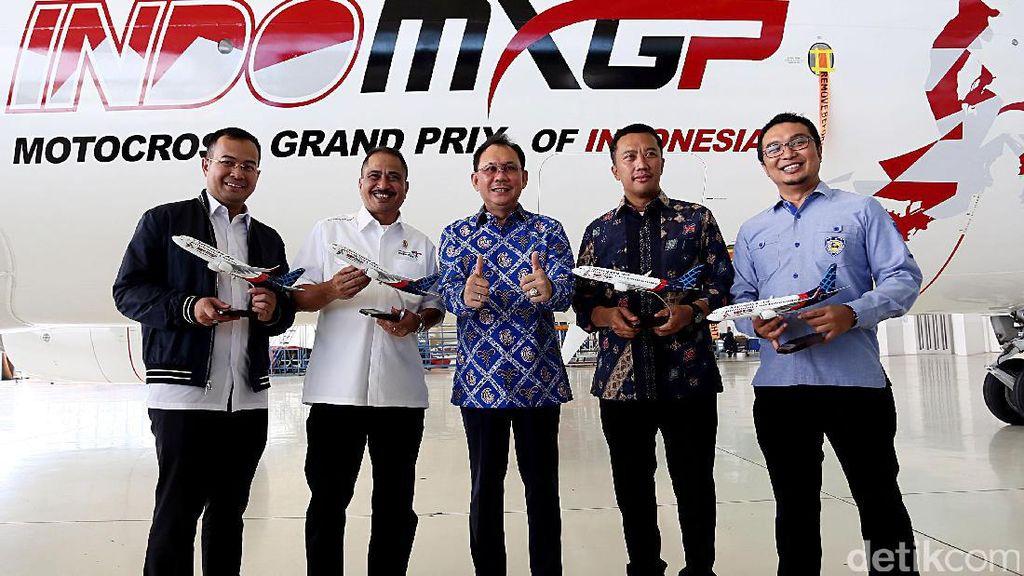 Indo MXGP di Badan Pesawat Sriwijaya Air