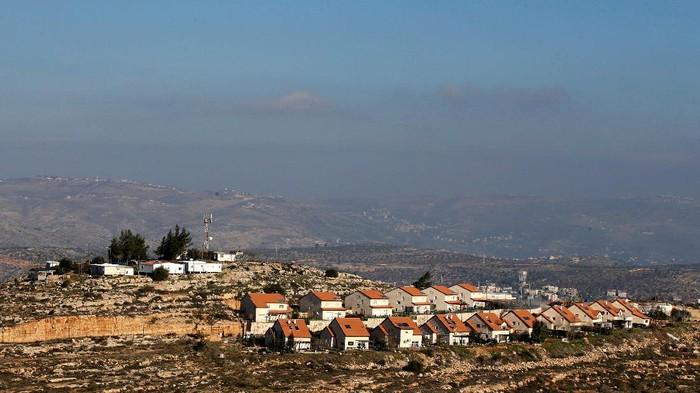 Ilustrasi -- Permukiman Yahudi di Tepi Barat (REUTERS/Baz Ratner)