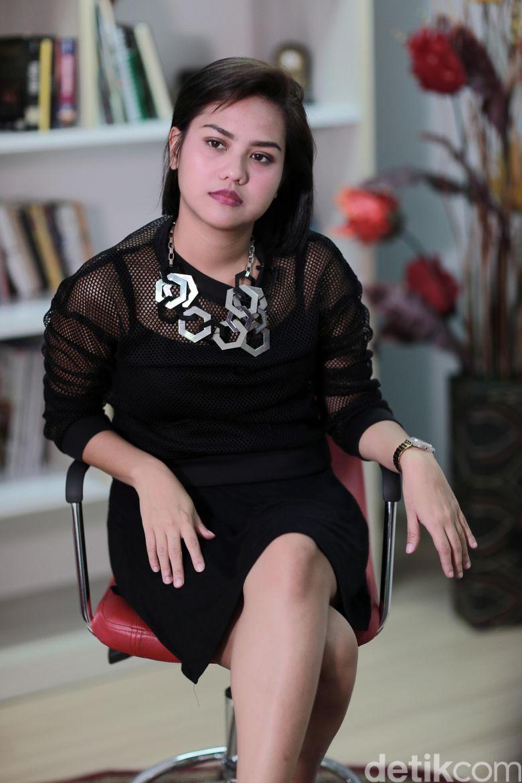 Mytha saat berkunjung ke kantor detikcom, Warung Buncit, Jakarta Selatan belum lama ini.
