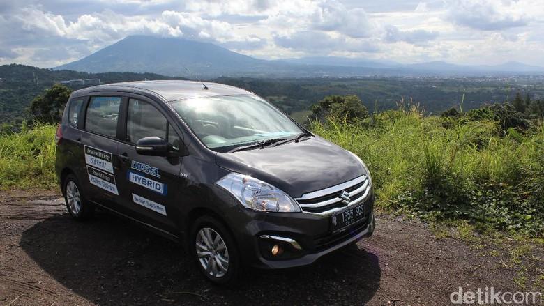 Ilustrasi Suzuki Ertiga hybrid Foto: Rangga Rahadiansyah