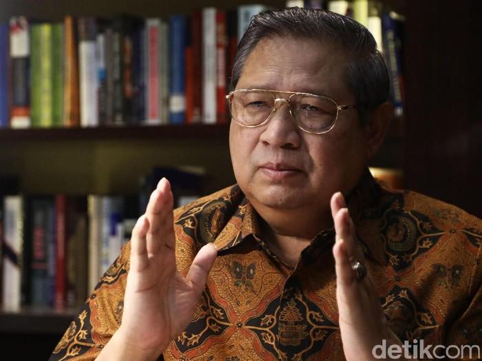 detikcom saat wawancara khusus dengan Susilo Bambang Yudhoyono (SBY) di Kuningan, Jakarta.