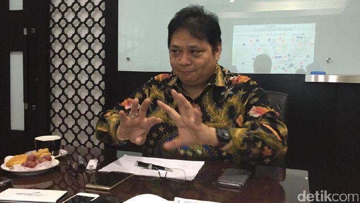 Menteri Perindustrian Airlangga Hartarto/Foto: Muhammad Idris-detikFinance