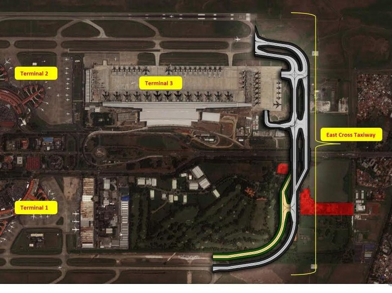 2 Runway Bandara Cengkareng akan Dihubungkan Lewat Timur