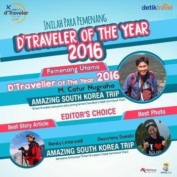 Inilah Dia Para Pemenang d'Traveler of The Year 2016!