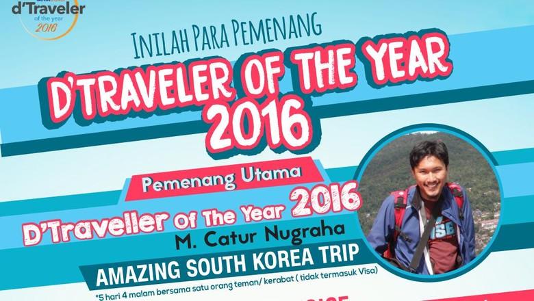 Pemenang dTraveler of The Year (Dean/detikTravel)