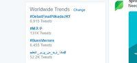 Debat Final Pilkada Jakarta Trending Topic Dunia