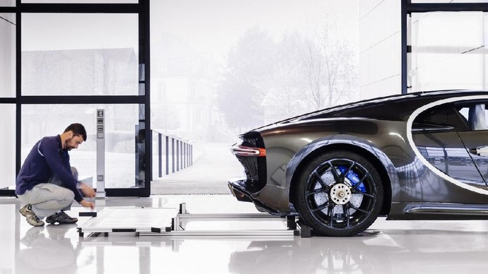 Pabrik Perakitan Bugatti Chiron Bersih Banget