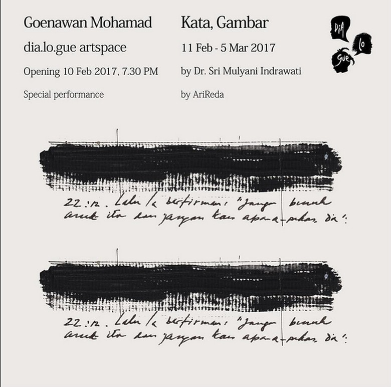 100 Karya Goenawan Mohamad Dipamerkan di Dia.Lo.Gue Artspace