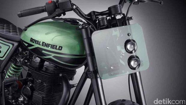 Royal Enfield Classic 500 Green Fly, Motor Pelahap Segala Medan