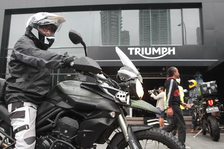 Pengguna moge Triumph. Foto: dok. Triumph Indonesia