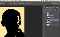 Layer yang dimiliki setelah semua layer di delete menggunakan magic wand tool pada bagian putih gambar.