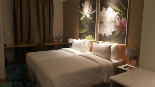 Suasana kamar Hotel Swiss-Bellinn Singkawang (Fitraya/detikTravel)